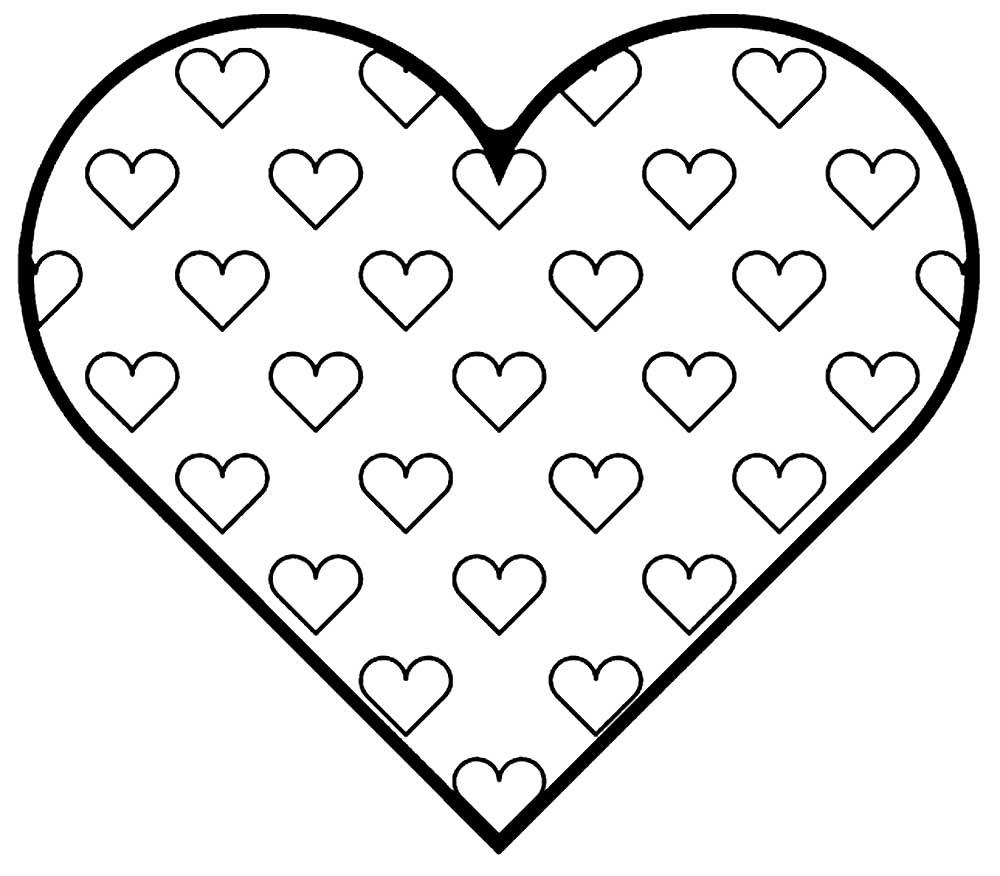 Раскраска картинки сердце