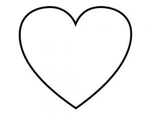 сердечки картинки раскраски крупные (22)