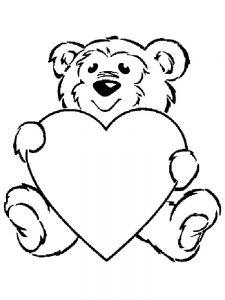 сердечки картинки раскраски крупные (23)