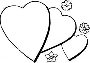 сердечки картинки раскраски крупные (26)
