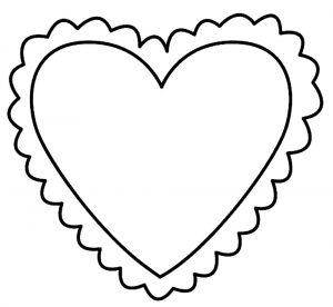 сердечки картинки раскраски крупные (27)