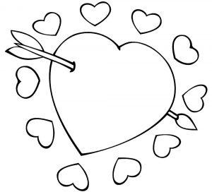 сердечки картинки раскраски крупные (28)