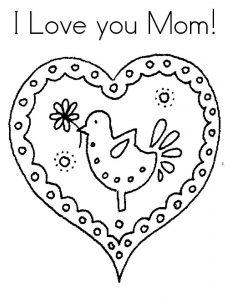 сердечки картинки раскраски крупные (3)