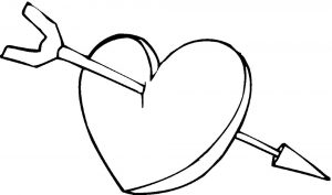 сердечки картинки раскраски крупные (30)