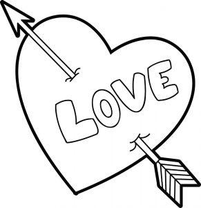 сердечки картинки раскраски крупные (33)