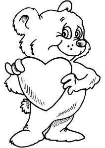 сердечки картинки раскраски крупные (36)