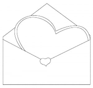 сердечки картинки раскраски крупные (4)