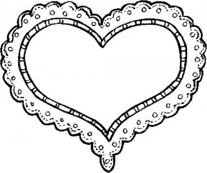 сердечки картинки раскраски крупные (42)