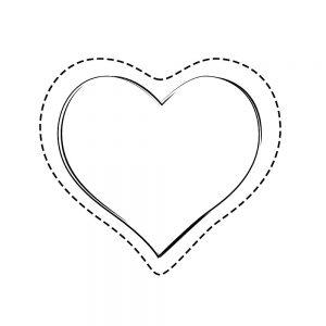 сердечки картинки раскраски крупные (43)