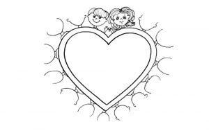 сердечки картинки раскраски крупные (45)