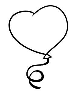 сердечки картинки раскраски крупные (46)