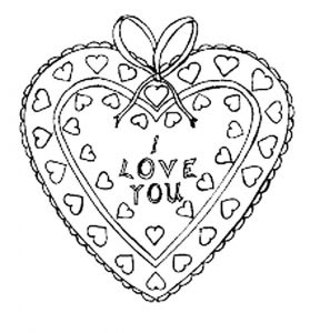 сердечки картинки раскраски крупные (5)