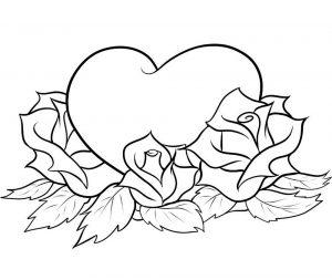 сердечки картинки раскраски крупные (52)