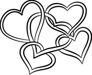 сердечки картинки раскраски крупные (54)