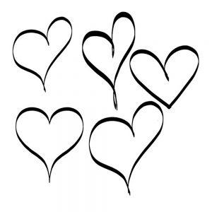 сердечки картинки раскраски крупные (55)
