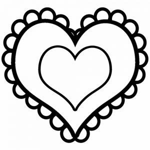 сердечки картинки раскраски крупные (56)