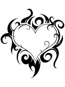 сердечки картинки раскраски крупные (57)