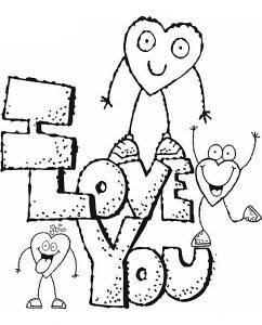 сердечки картинки раскраски крупные (61)