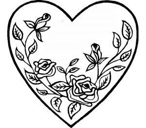 сердечки картинки раскраски крупные (62)
