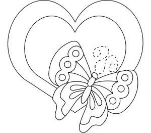 сердечки картинки раскраски крупные (63)