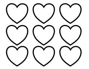 сердечки картинки раскраски крупные (64)