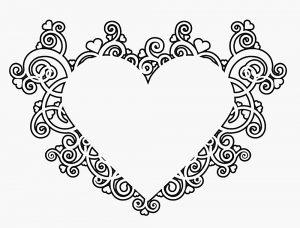 сердечки картинки раскраски крупные (65)