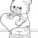 сердечки картинки раскраски крупные (7)