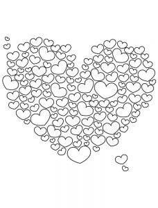 сердечки картинки раскраски крупные (71)