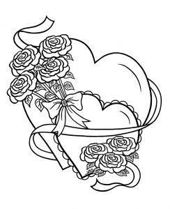 сердечки картинки раскраски крупные (75)
