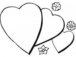 сердечки картинки раскраски крупные (76)
