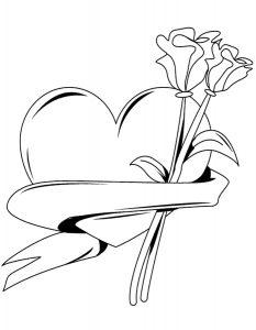 сердечки картинки раскраски крупные (79)