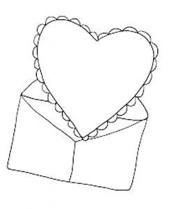сердечки картинки раскраски крупные (8)