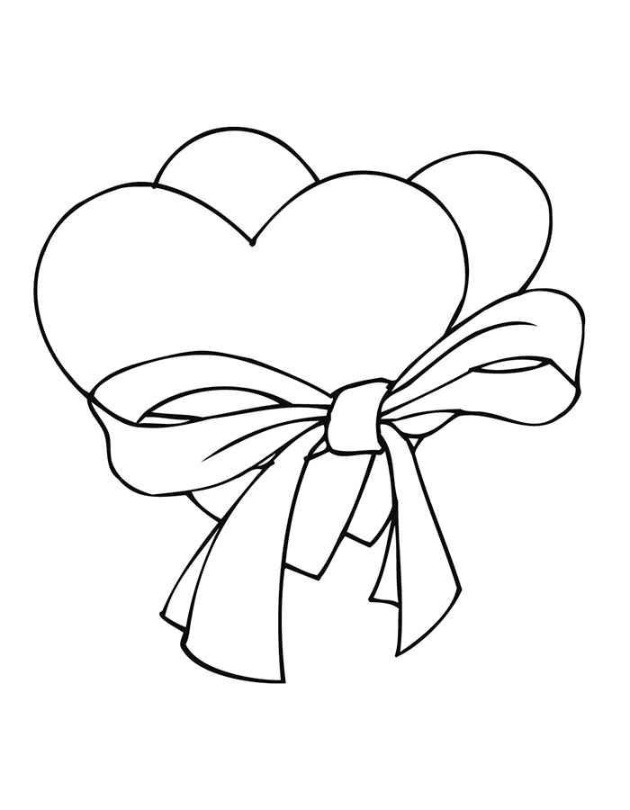 Раскраска картинки сердце, открытку своими