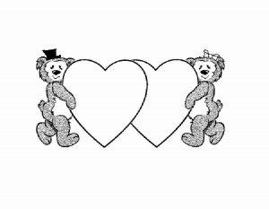 сердечки картинки раскраски крупные (82)