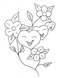 сердечки картинки раскраски крупные (84)