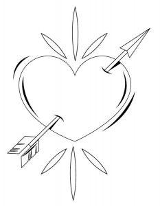 сердечки картинки раскраски крупные (86)