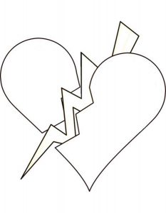 сердечки картинки раскраски крупные (87)