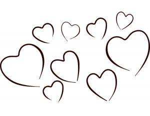 сердечки картинки раскраски крупные (89)