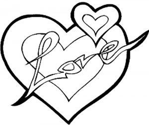 сердечки картинки раскраски крупные (9)