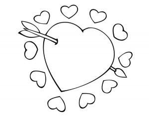 сердечки картинки раскраски крупные (91)