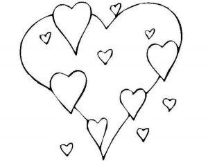 сердечки картинки раскраски крупные (92)
