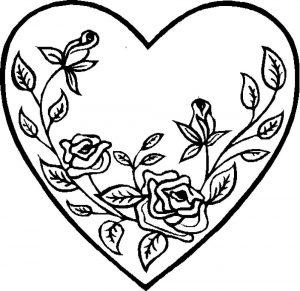 сердечки картинки раскраски крупные (94)