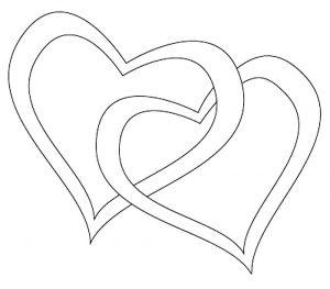 сердечки картинки раскраски крупные (95)