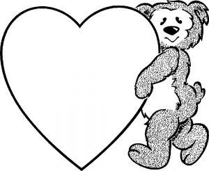 сердечки картинки раскраски крупные (97)