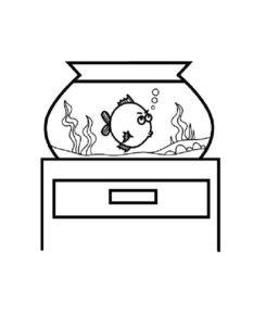 Аквариум с рыбками картинки раскраски (1)