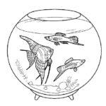 Аквариум с рыбками картинки раскраски (10)