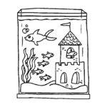 Аквариум с рыбками картинки раскраски (2)