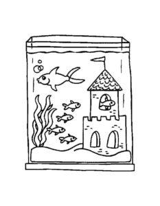 -с-рыбками-картинки-раскраски-2-233x300 Аквариум с рыбками