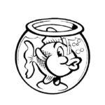 Аквариум с рыбками картинки раскраски (3)