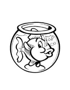 -с-рыбками-картинки-раскраски-3-233x300 Аквариум с рыбками